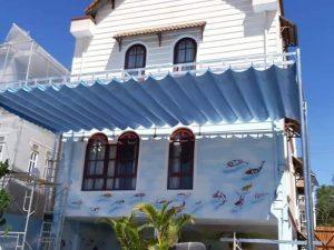 Sử dụng mái xếp di động lượn sóng Bình Phước