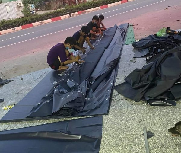 Bạt lót ao hồ, bạt lót sàn, bạt che vật liệu, bạt che hàng hóa, bạt HDPE giá rẻ tại Tiền Giang